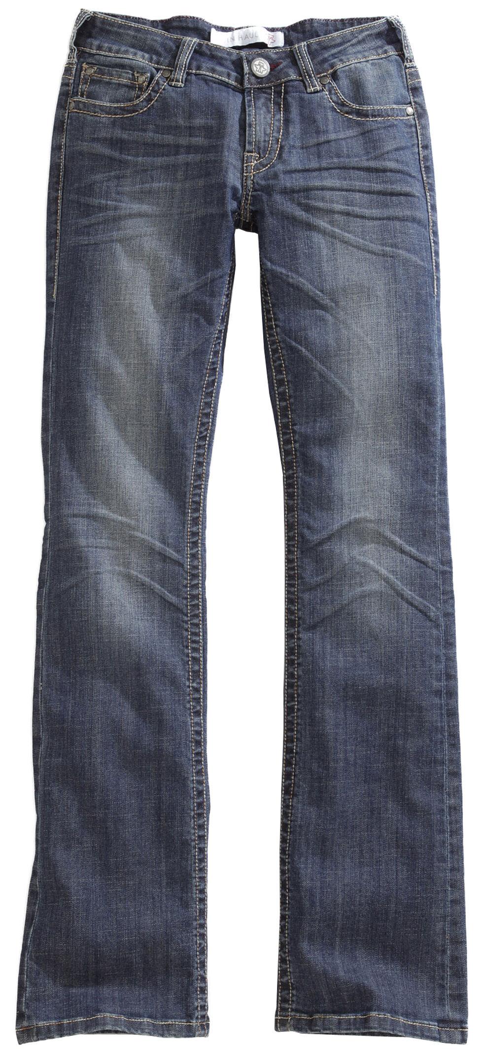 Tin Haul Women's Dolly Celebrity Star Stitch Bootcut Jeans, Denim, hi-res