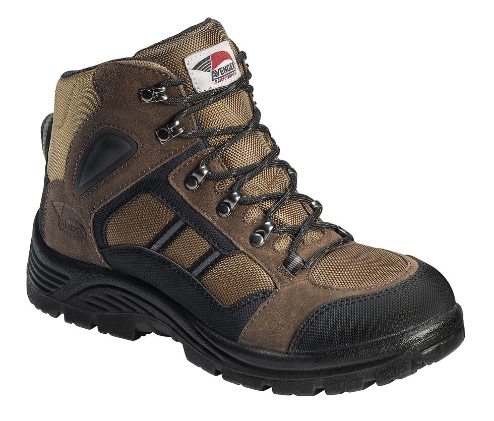 Avenger Men's Electrical Hazard Hiking Boots - Steel Toe, Brown, hi-res