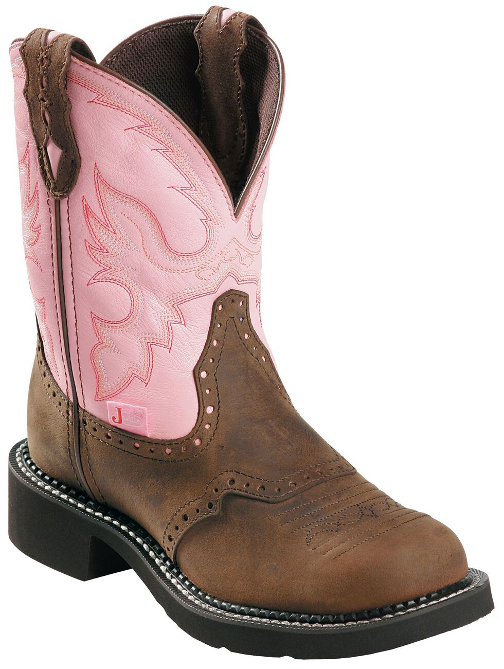 Justin Gypsy Women's Wanette Pink Work Boots - Steel Toe, , hi-res