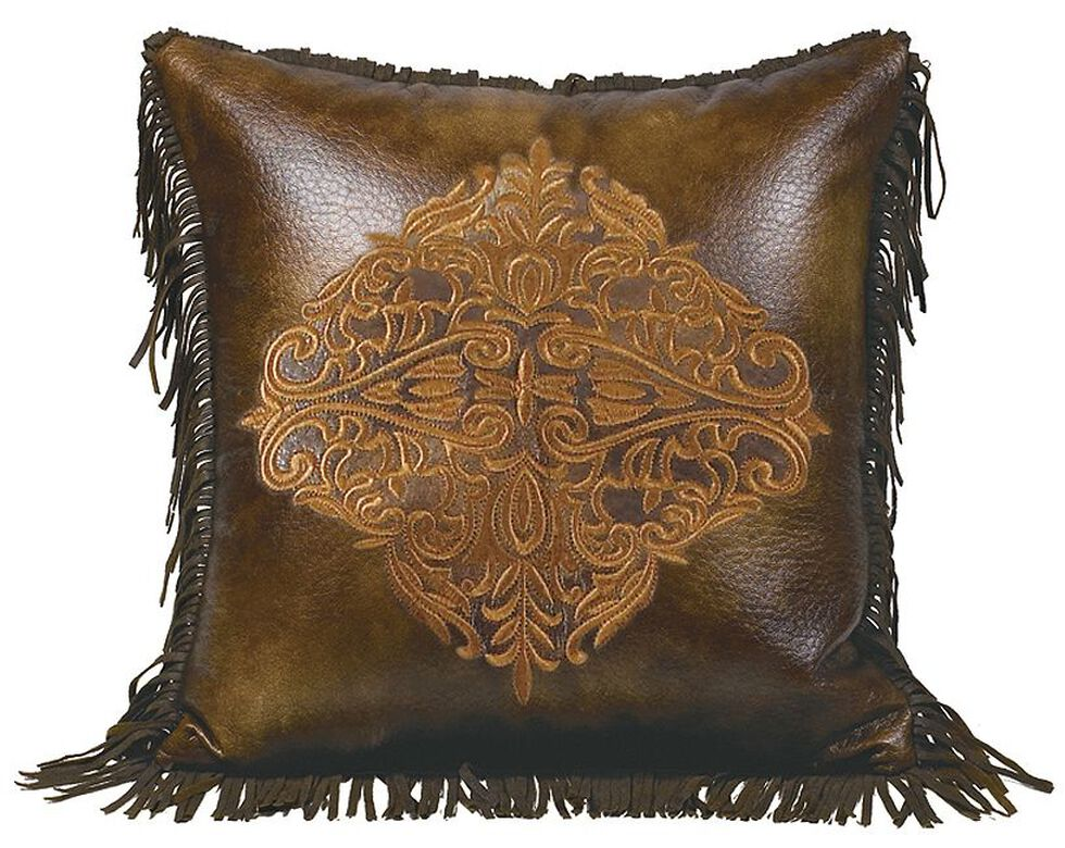 Hiend Accents Austin Embroidery Fringe Edges Accent Pillow Sheplers