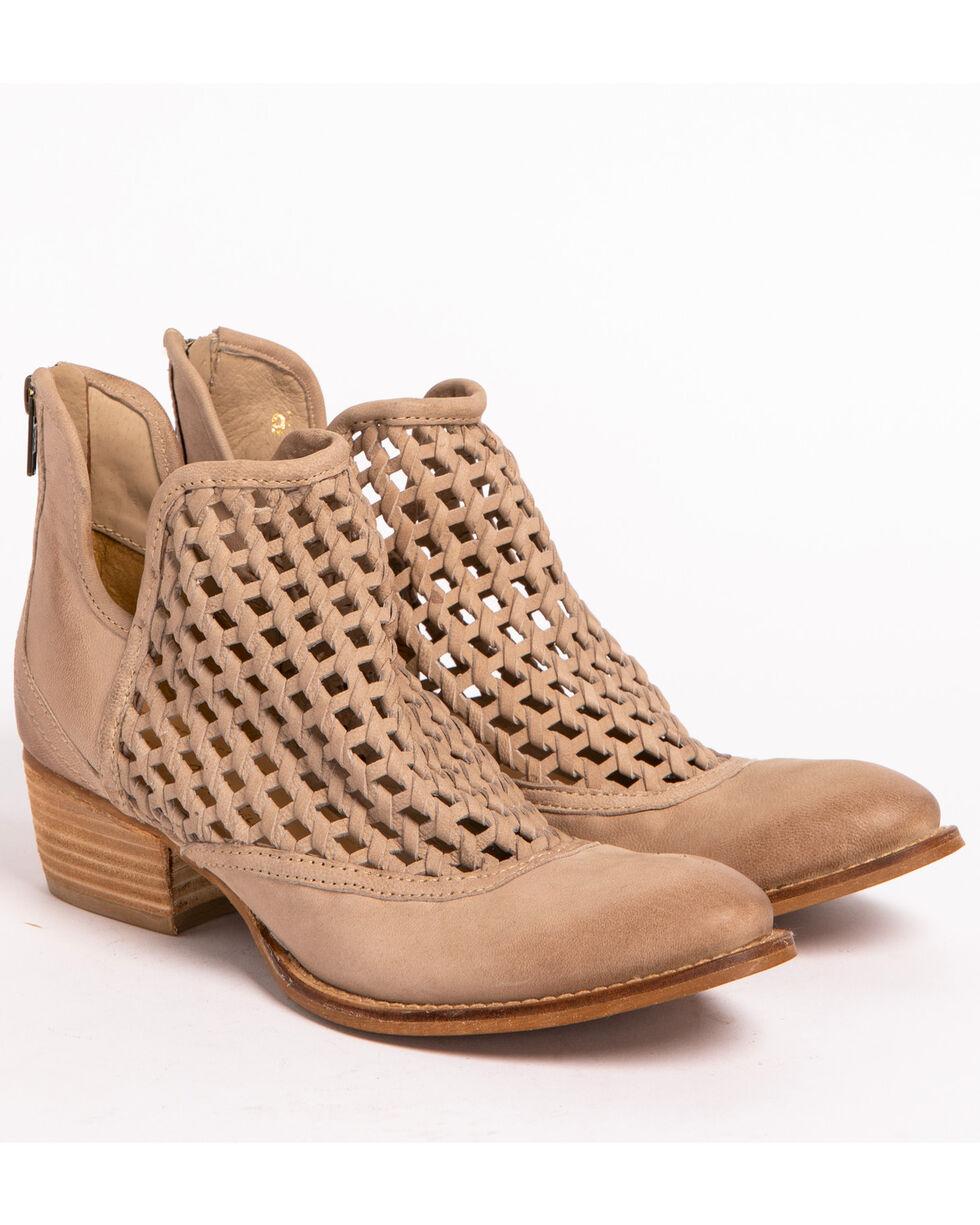 Very Volatile Women's Hudsun Stone Woven Booties, Beige/khaki, hi-res