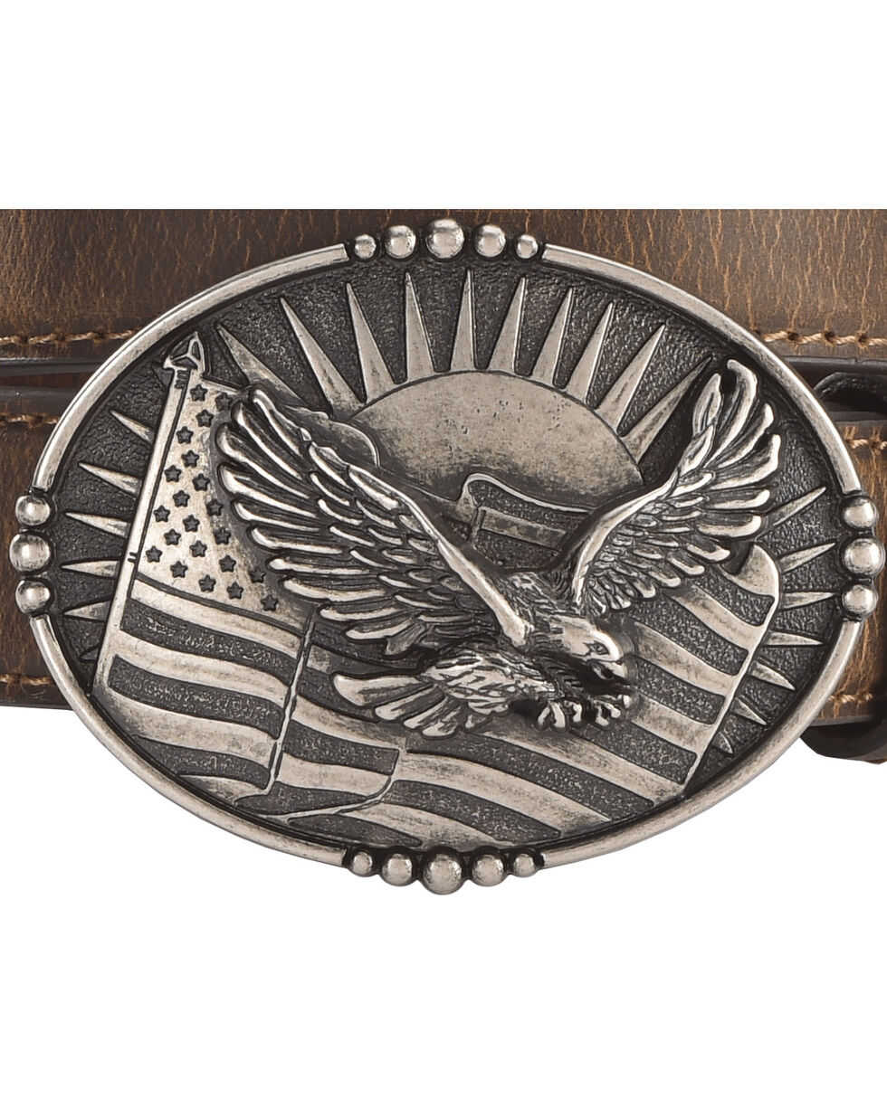 Cody James Boys' Eagle Flag Belt, , hi-res