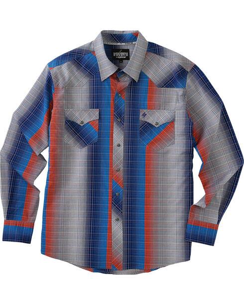 Garth Brooks Sevens by Cinch Men's Multi Gray Pearl Snap Long Sleeve Shirt , Multi, hi-res