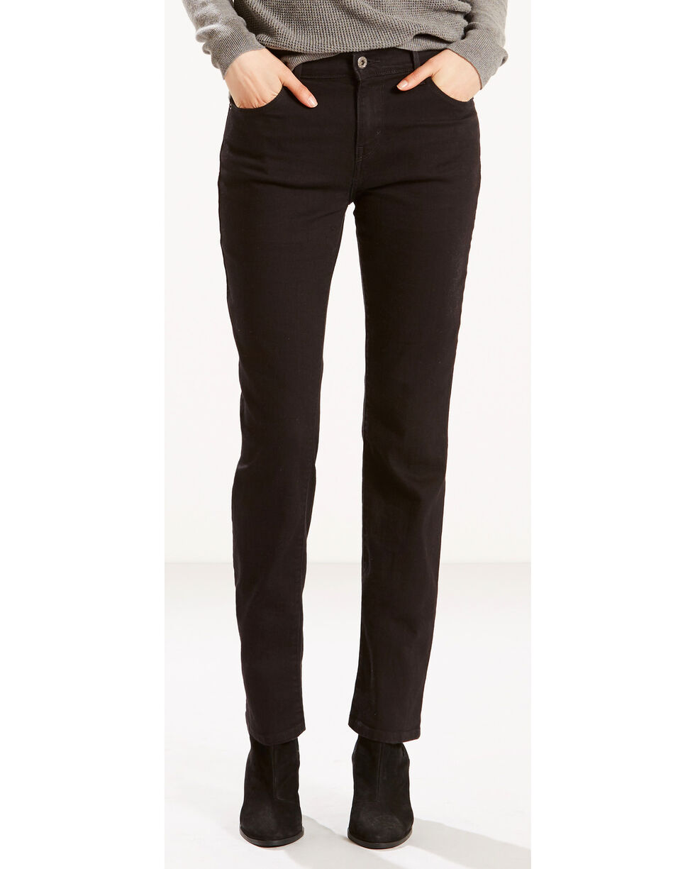 Levi's Women's 505 Straight Leg Jeans, Black, hi-res