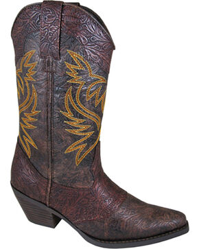 Smoky Mountain Women's Julia Western Boots - Snip Toe , Brown, hi-res