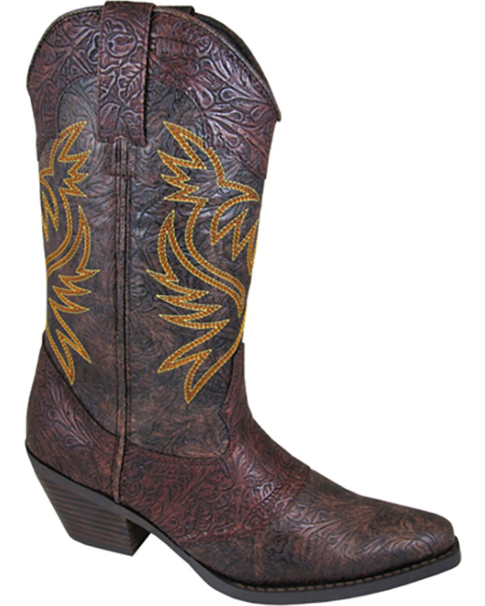 Smoky Mountain Women's Julia Western Boots - Snip Toe , Brown, hi-res