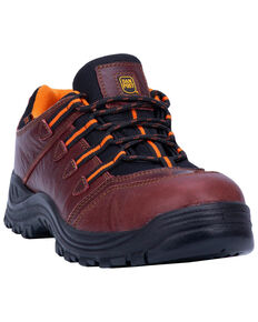 Dan Post Men's Blue Ridge Hiker Shoes - Safety Toe, Red, hi-res