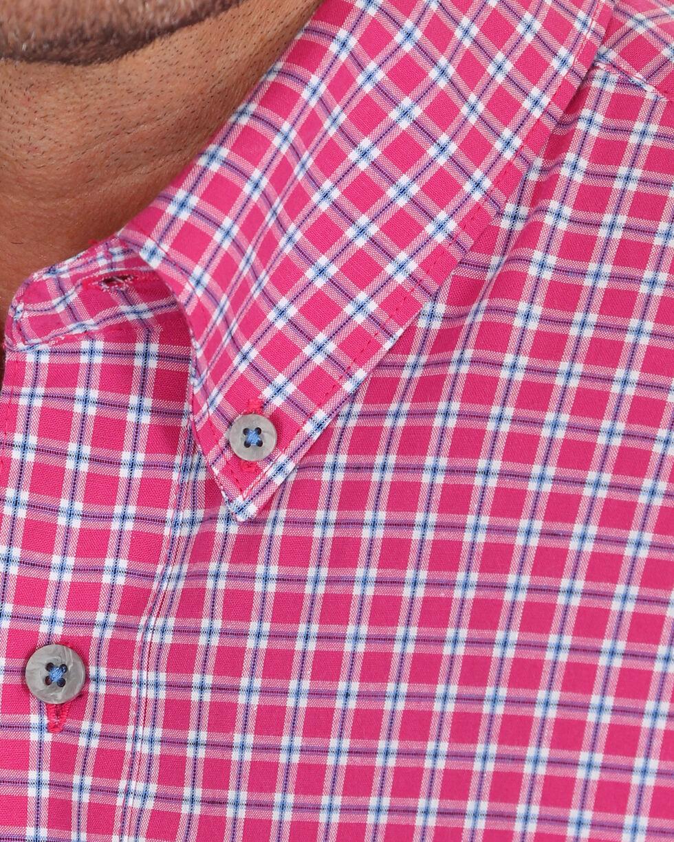 Wrangler 20X Men's Pink Plaid Competition Advanced Comfort Short Sleeve Shirt , Pink, hi-res
