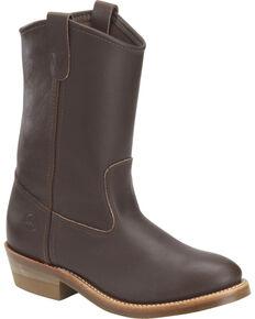 Double-H Men's Ranch Wellington Work Boots - Round Toe, Dark Brown, hi-res