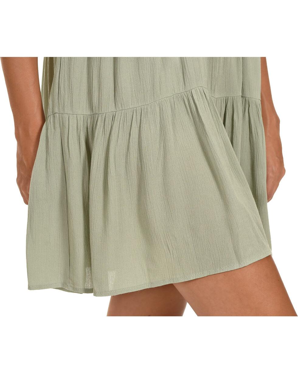 Ces Femme Women's Sage Tiered Ruffle Dress , Green, hi-res