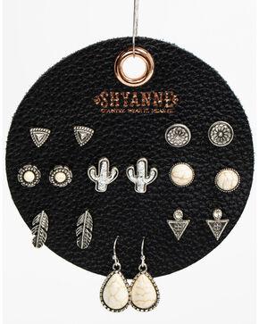Shyanne Women's Bone 8 Pack Earring Patch Set, Ivory, hi-res