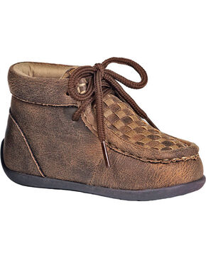 Double Barrel Toddler Boys' Brown Carson Chukka Shoes, Brown, hi-res