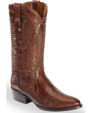 Dan Post Men's Teju Lizard Western Boots - Medium Toe, Tan, hi-res