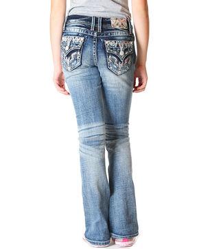 Grace in LA Girls' (4-6X) Faux Flap Jeans - Boot Cut , Indigo, hi-res