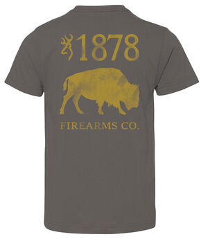 Browning Boys' Buffalo Firearms Tee, Charcoal Grey, hi-res