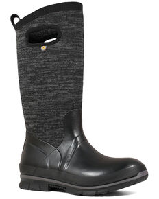 Bogs Women's Crandal Tall Rubber Boots - Round Toe, Black, hi-res