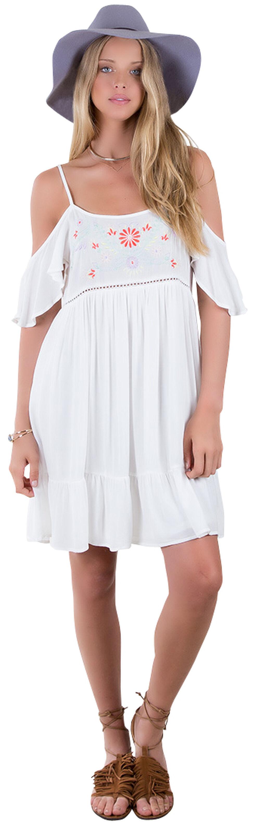 Others Follow White Harbor Mist Off Shoulder Dress , White, hi-res