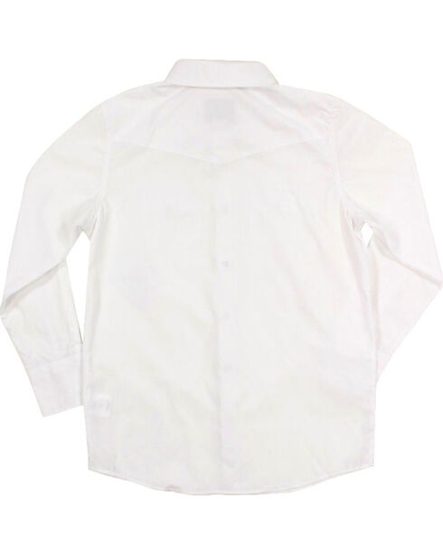 Gibson Trading Co. Boys' White Water Long Sleeve Snap Shirt, White, hi-res