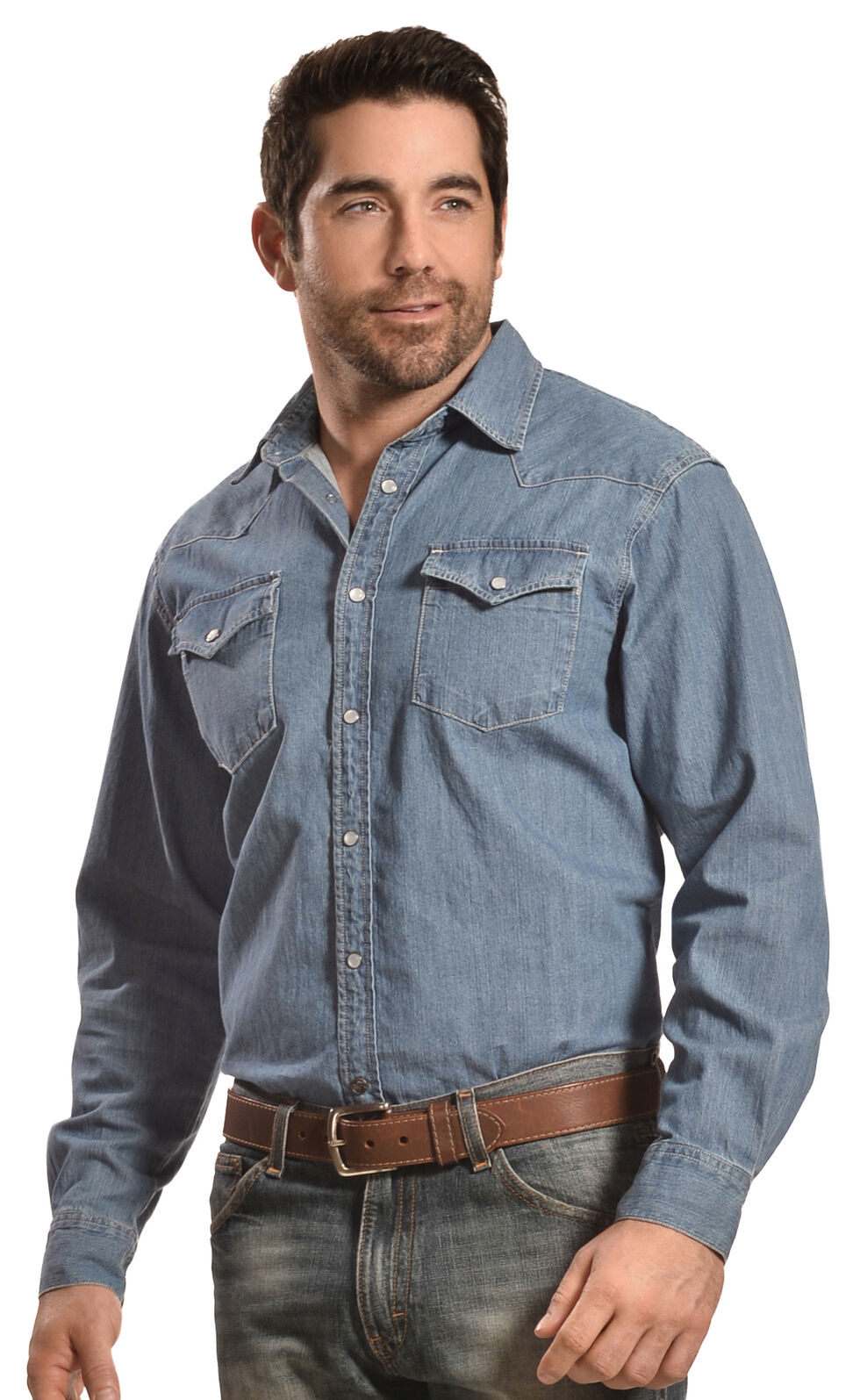Mountain Khakis Blue Original Mountain Denim Shirt, Blue, hi-res