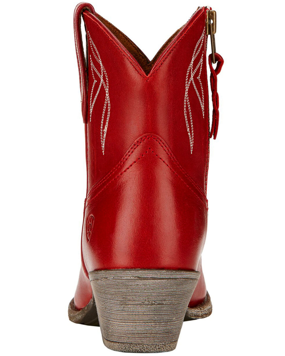 Ariat Women's Darlin Booties - Round Toe , Red, hi-res