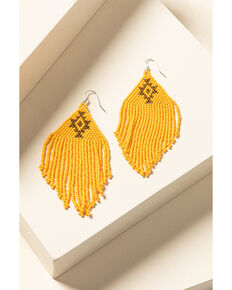 Idyllwind Women's Beaded You To It Yellow Earrings, Yellow, hi-res