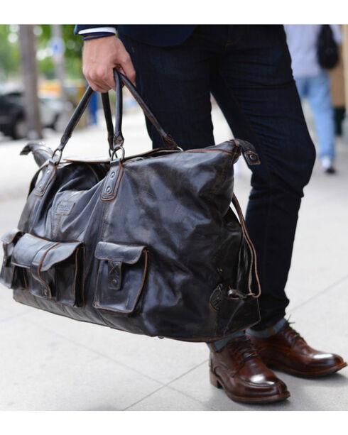 Bed Stu Men's Exile Black Rust Leather Travel Bag, Black, hi-res