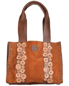 STS Ranchwear Women's Sheridan Flower Handbag, Brown, hi-res