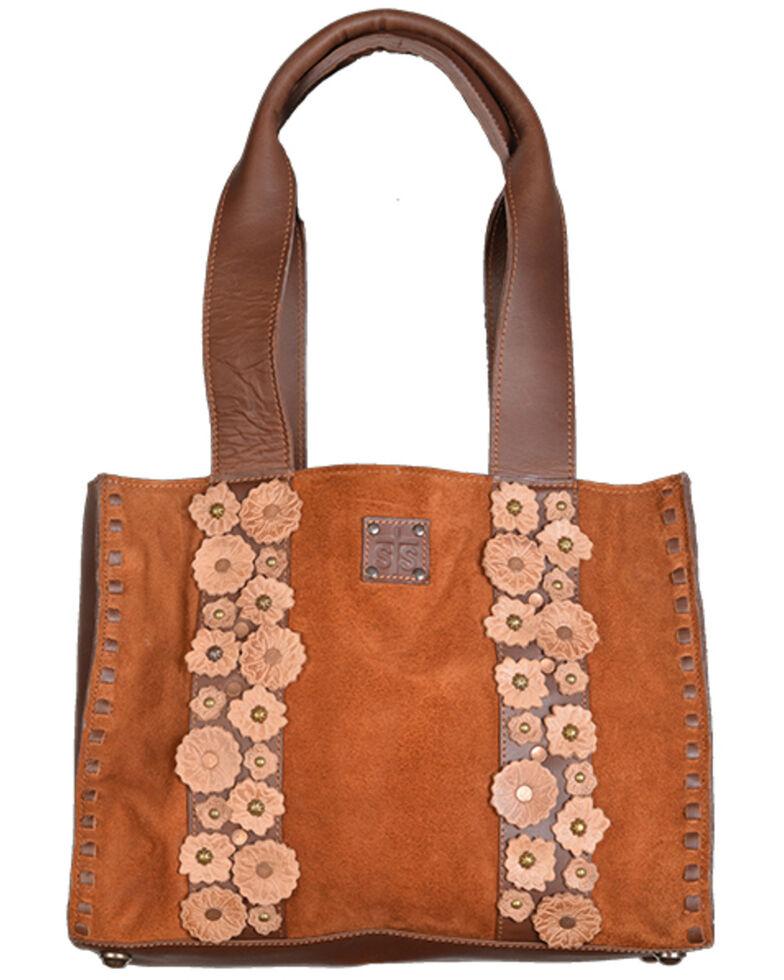 STS Ranchwear Women's Sheridan Flower Handbag, Brown, hi-res