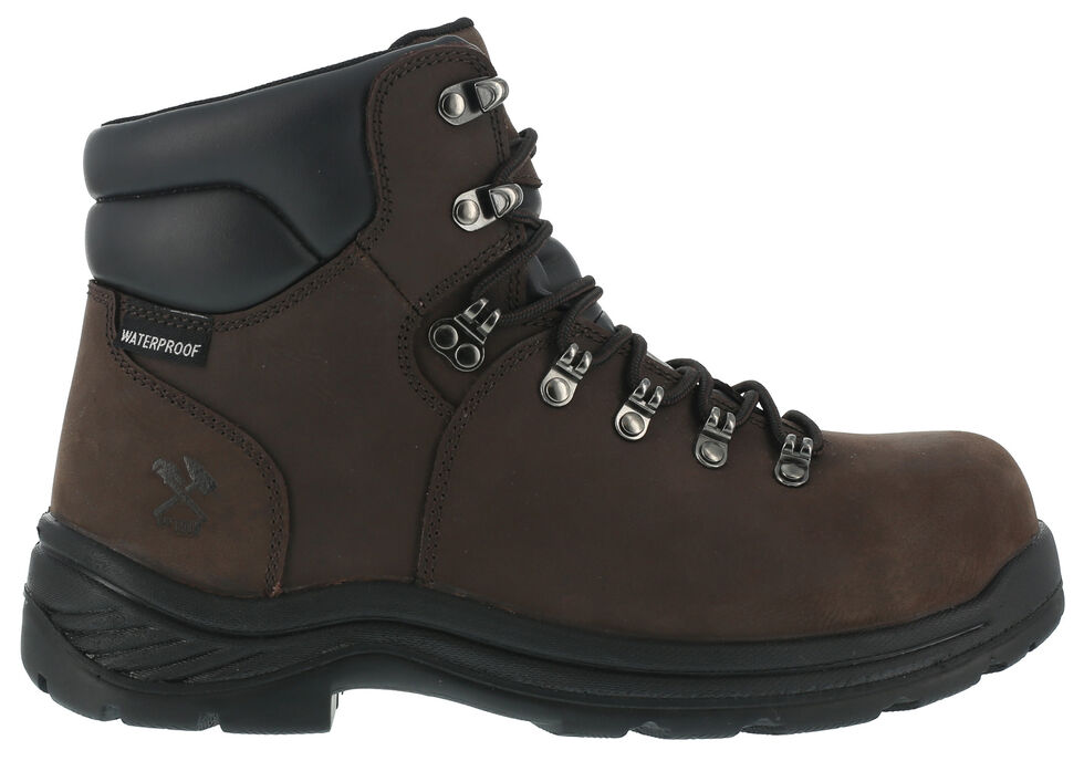 Iron Age Waterproof Hiking Work Boots - Composite Toe, Brown, hi-res