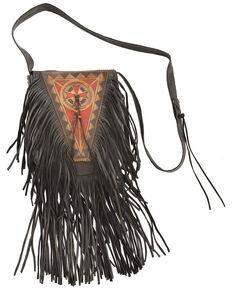 Kobler Leather Painted Handbag, Black, hi-res