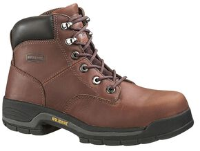 "Wolverine Harrison 6"" Work Boots - Steel Toe, Brown, hi-res"