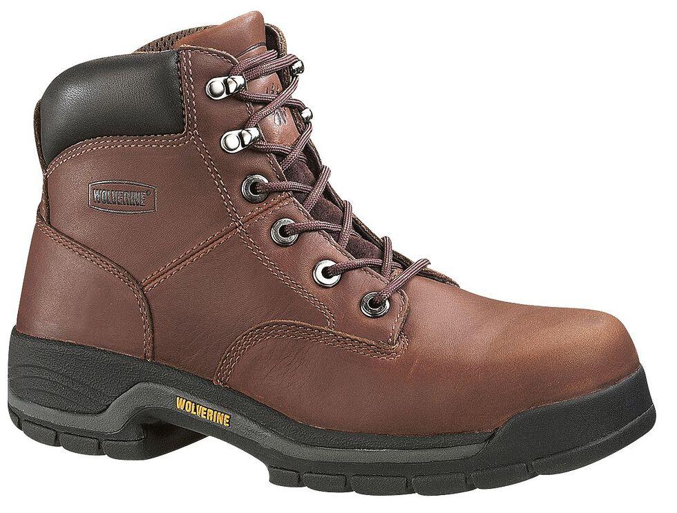 "Wolverine Harrison 6"" Work Boots - Steel Toe, Brown, hi-res"