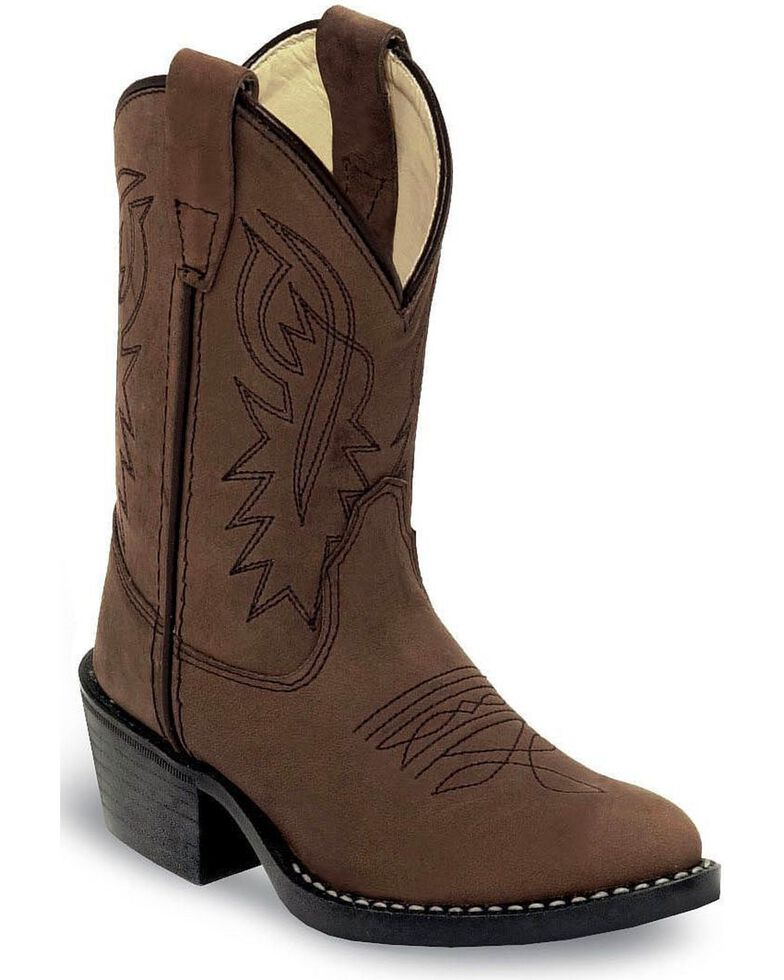 Old West Boys' Distressed Cowboy Boots - Round Toe , Distressed, hi-res