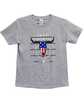 Cowboy Hardware Boys' American Original Short Sleeve Tee, Grey, hi-res