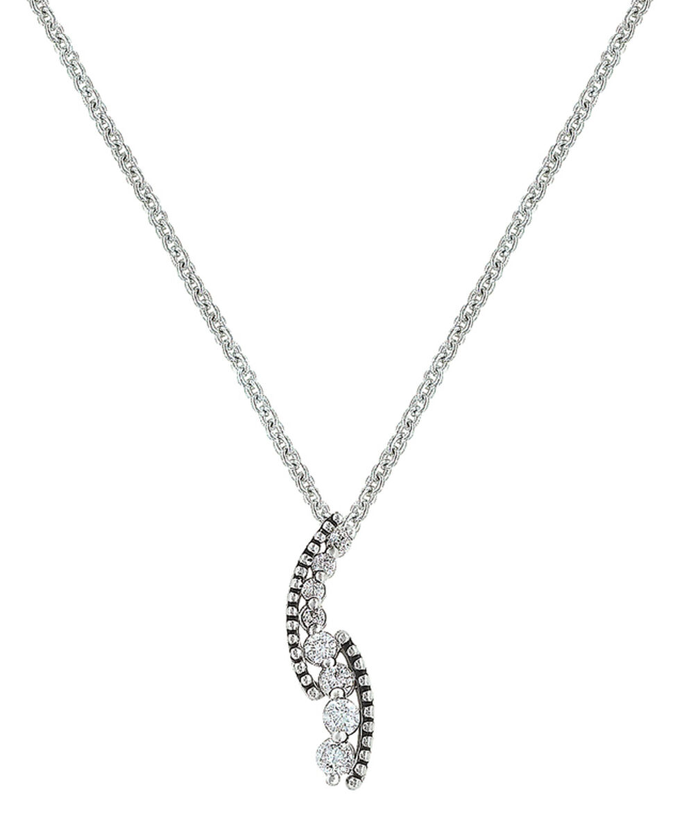 Montana Silversmiths Women's Sparkling Pathway Necklace , Silver, hi-res