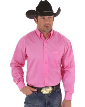 """Wrangler """"Tough Enough To Wear Pink"""" Western Shirt, Pink, hi-res"""