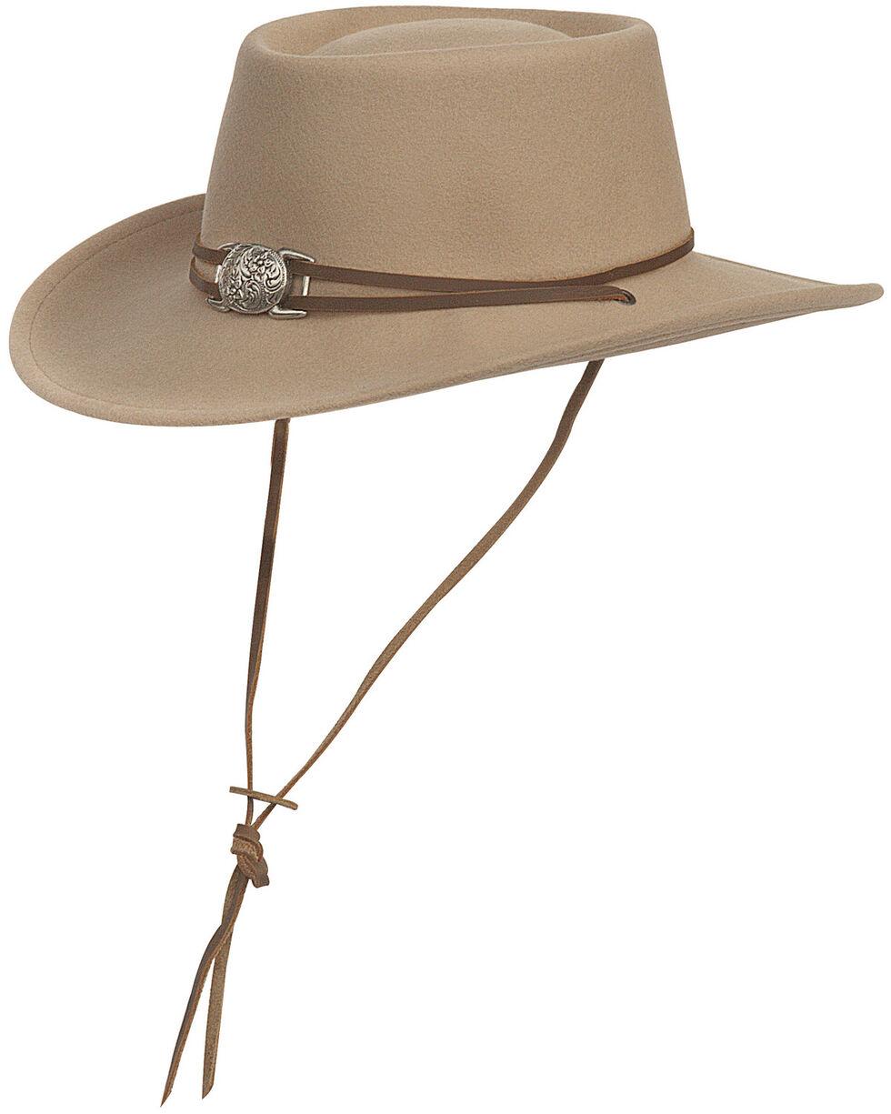 Silverado Men's Dusty Crushable Wool Western Hat, Beige, hi-res
