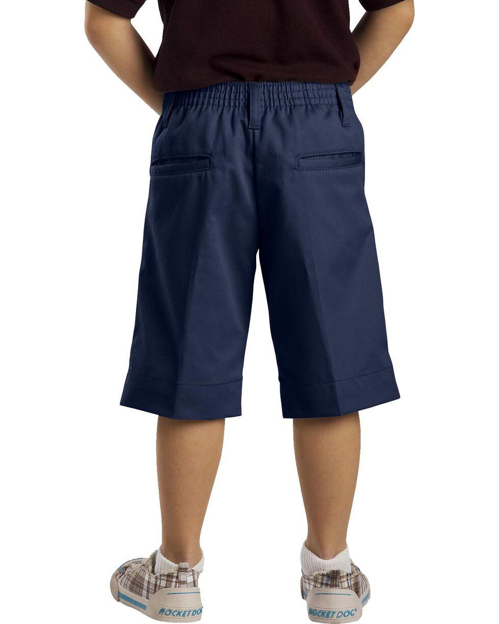 Dickies Junior Girls' Stretch Bermuda Shorts, Navy, hi-res