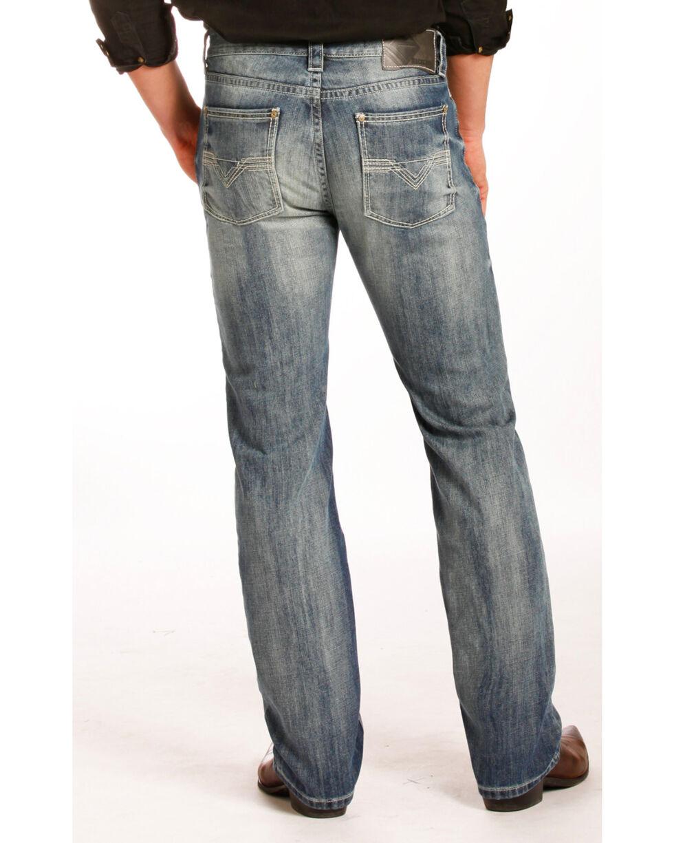 Rock & Roll Cowboy Men's Revolver Jeans - Straight Leg , Blue, hi-res
