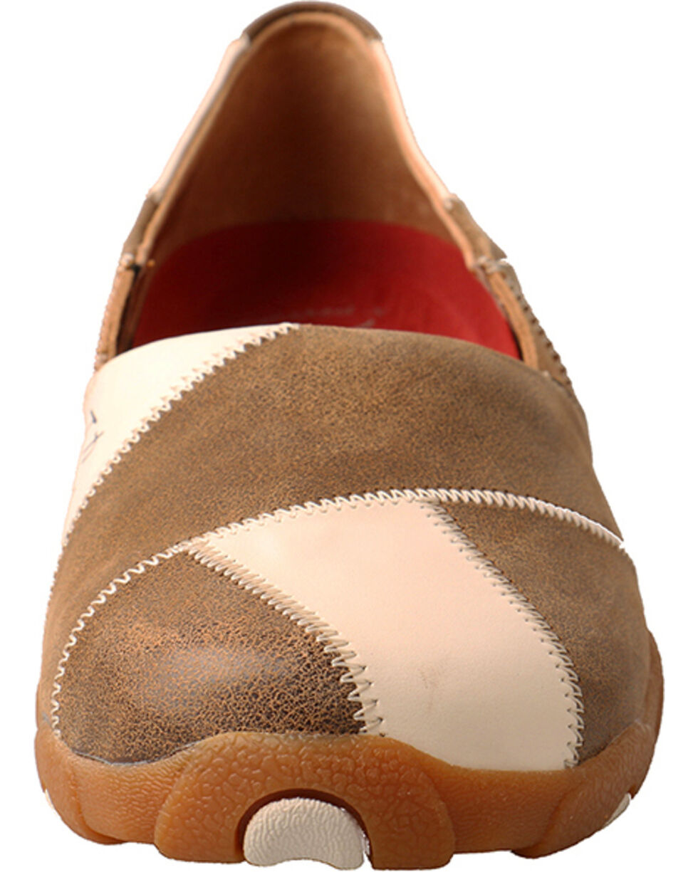 Twisted X Women's Slip on Driving Moccasins - Round Toe, Brown, hi-res