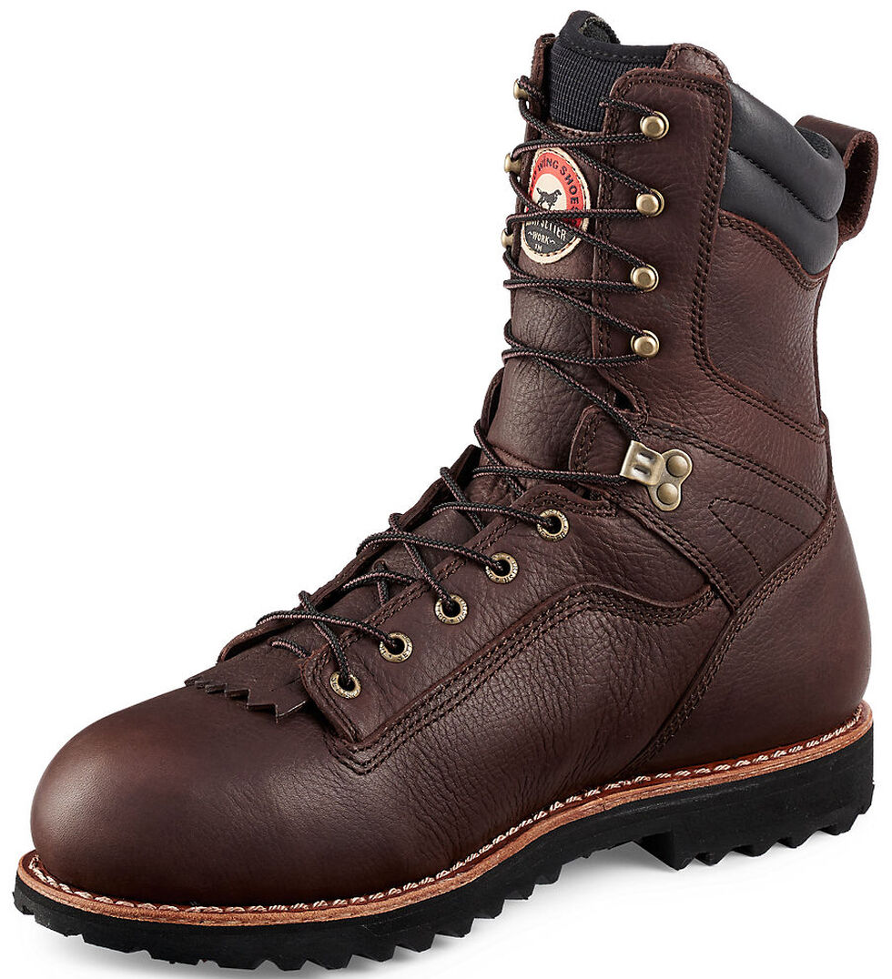 Irish Setter by Red Wing Shoes Men's Mesabi Insulated Logger Work Boots - Aluminum Toe  , Brown, hi-res