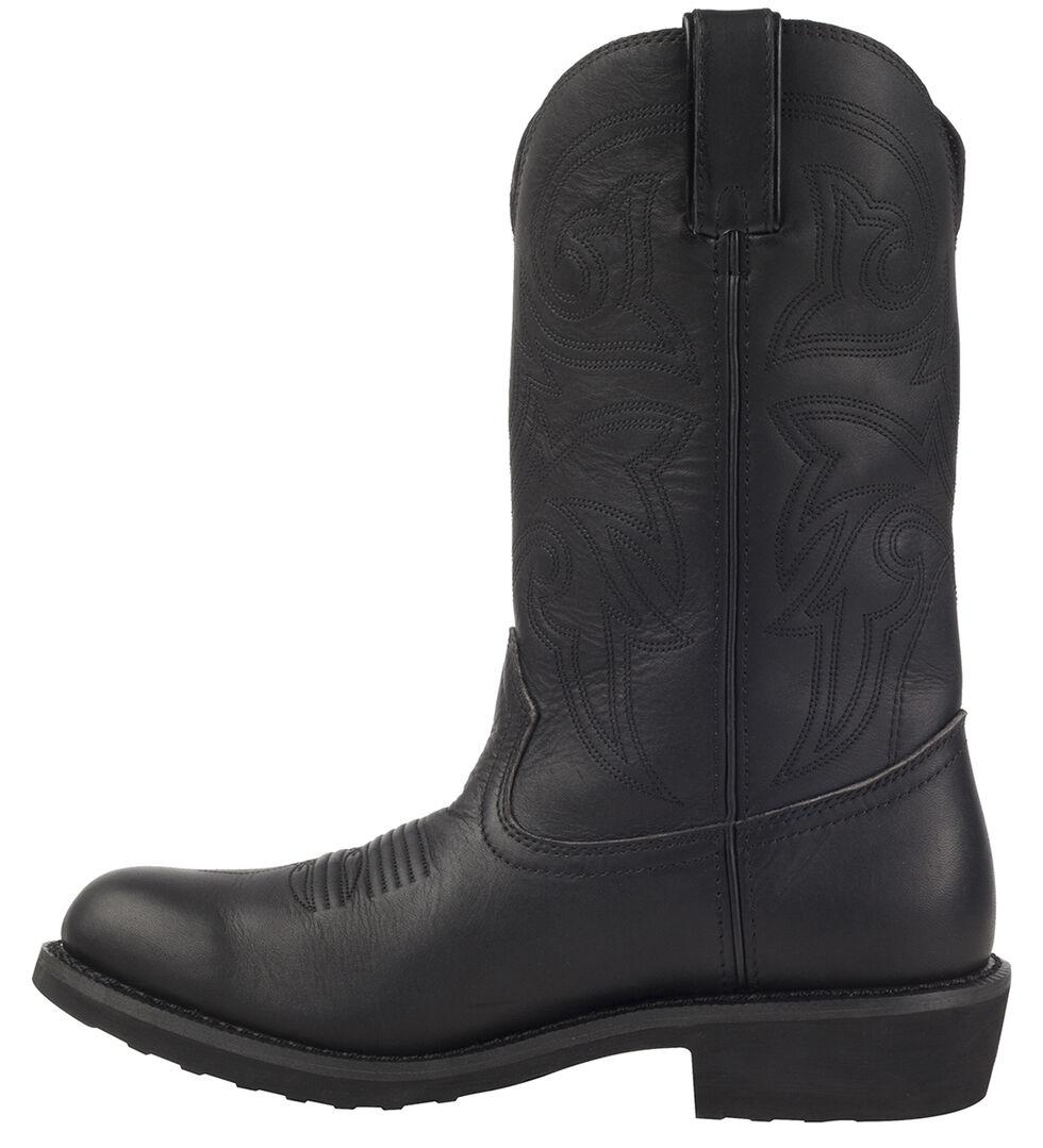 Durango Men's Farm N' Ranch Black Western Boots - Round Toe, Black, hi-res
