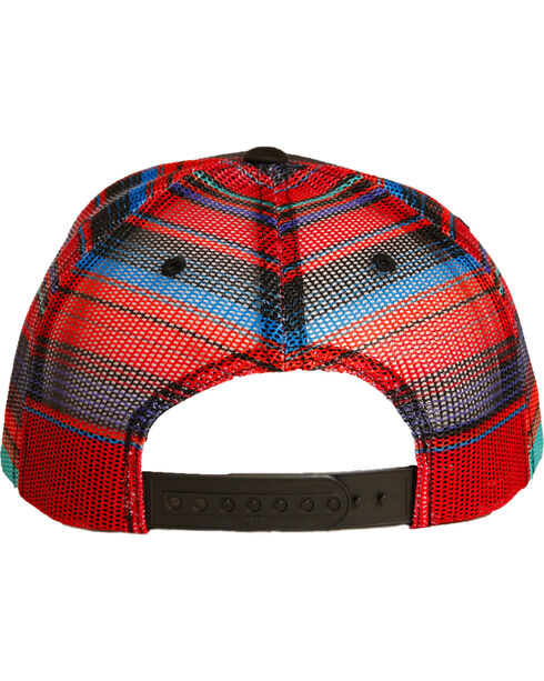 Rock & Roll Denim Serape Mesh Thunderbird Cap , Black, hi-res