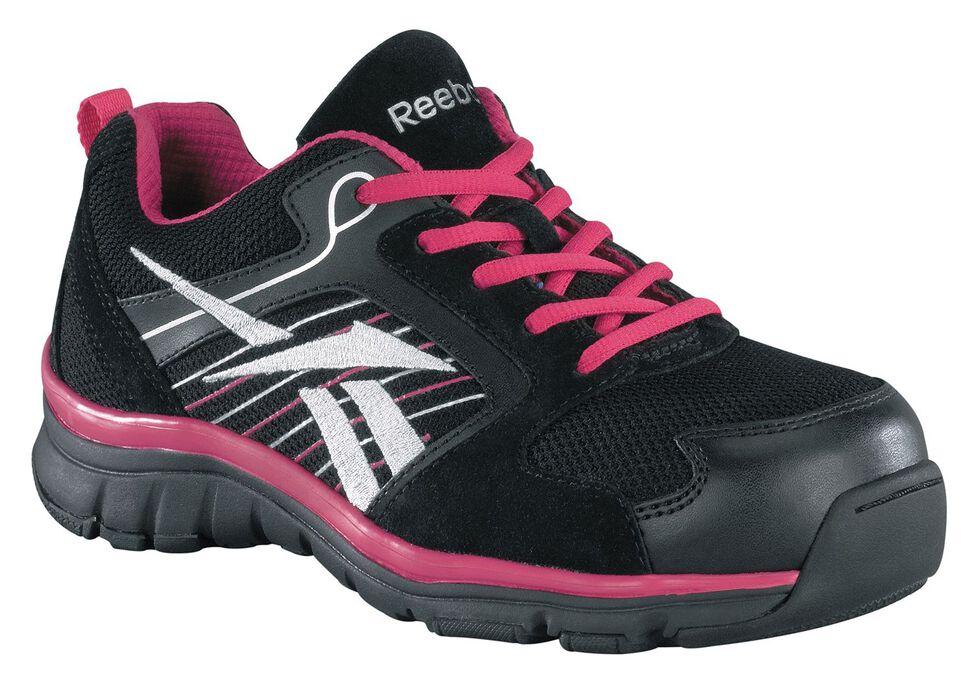 Reebok Women's Anomar Work Shoes - Safety Toe, Black, hi-res