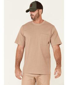 Hawx Men's Solid Natural Forge Short Sleeve Work Pocket T-Shirt , Natural, hi-res
