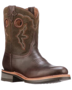 Lucchese Women's Ruth Western Boots - Round Toe, Chocolate, hi-res