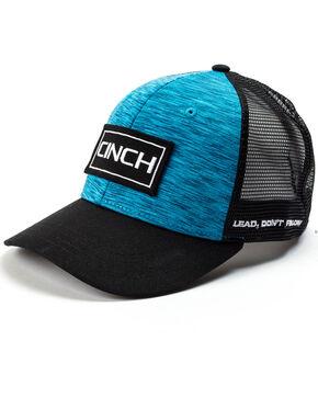 Cinch Men's Blue Trucker Mesh Back Cap, Black, hi-res