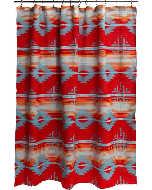 Carstens Red Branch Shower Curtain, Red, hi-res