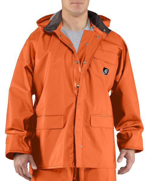 Carhartt Surrey Rain Coat - Big & Tall, Orange, hi-res