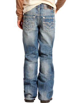 Rock & Roll Cowboy Denim Boy's Boot Cut Jeans, Blue, hi-res